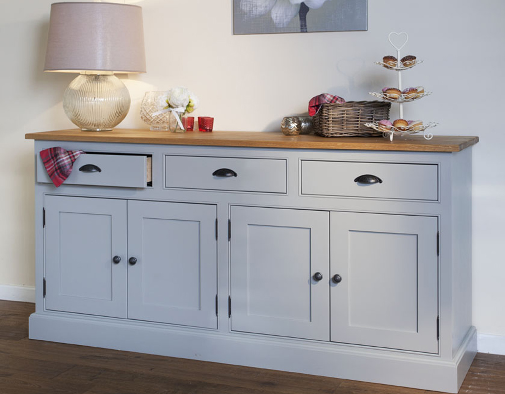 Bespoke-6ft-sideboard-painted-lamp-room-gray