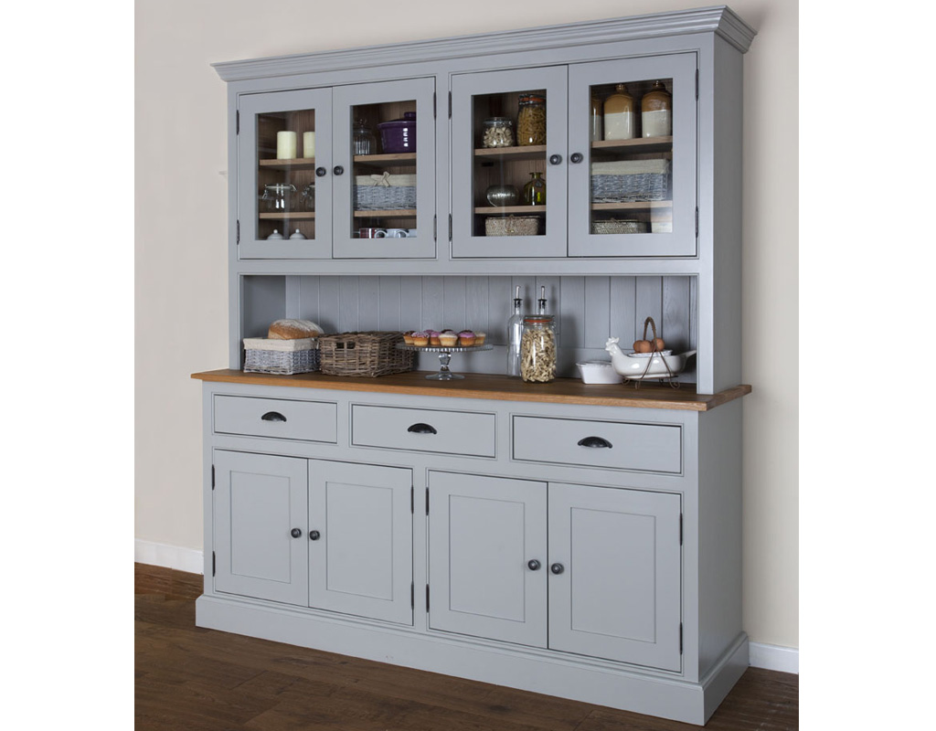 Bespoke-glazed-dresser-painted-lamp-room-gray