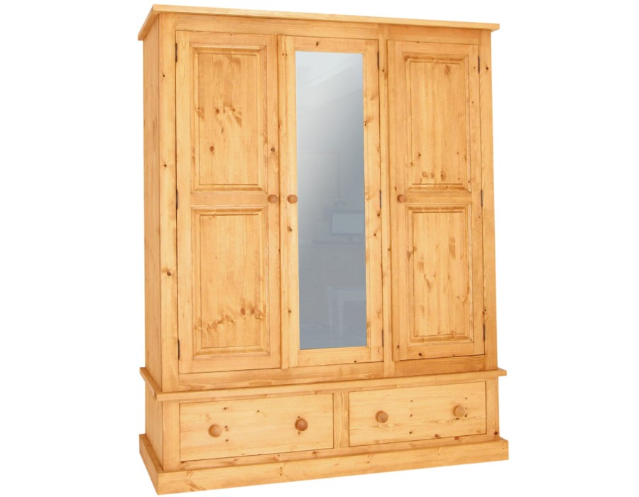 Bespoke Combination 2 Drawer Triple Wardrobe with Mirror