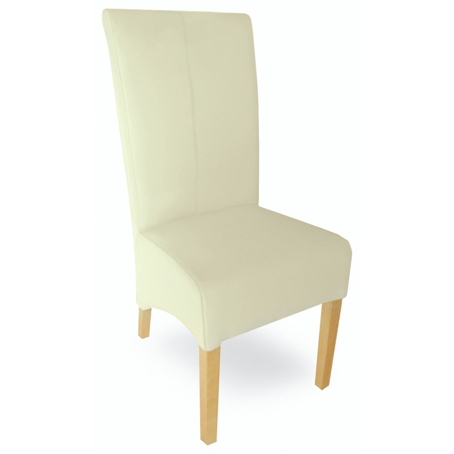 Milano Cream Leather Chair