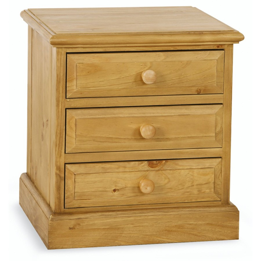 Sherwood Pine 3 Drawer Bedside