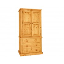 Bespoke Combination 3 Drawer Gents Press Wardrobe