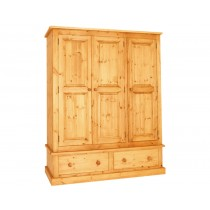 Bespoke Combination 2 Drawer Triple Wardrobe