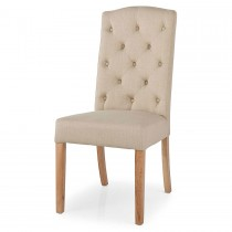 Gloucester Button Back Dining Chair (Camel)