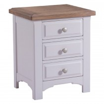 Georgia 3 Drawer Bedside